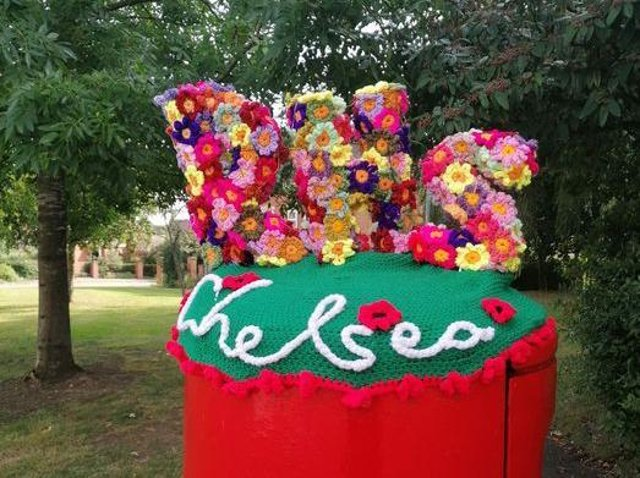 Blooming wonderful art on the postbox.